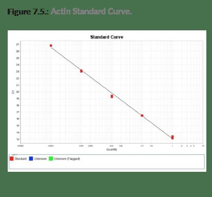 hotstart actin standard curve